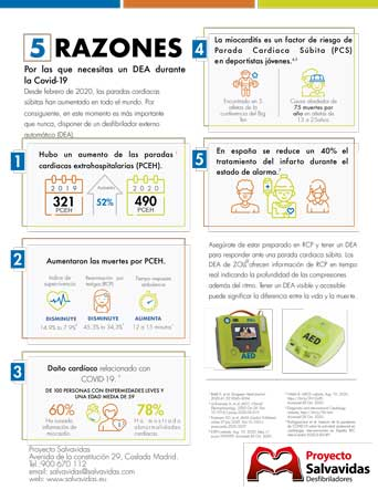 Infographic on how to get a free DESA defibrillator