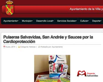 San Andres and Sauces cardioprotected with Life Wristbands