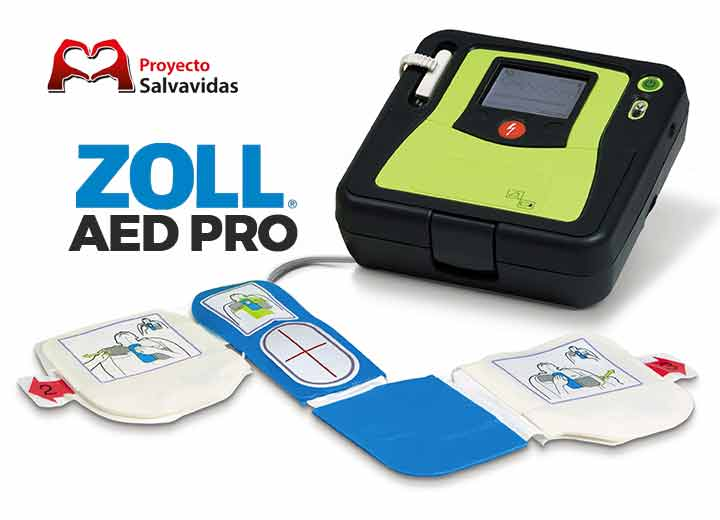 Defibrillator AED Pro, defibrillator Zoll for rescue teams and medical emergencies in critical situations, shock defibrillators