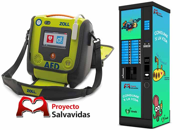 Vending and coffee machines with built-in defibrillators, healthy vending for the healthy company.