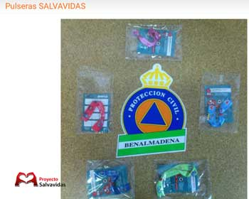 The Group of Civil Protection Volunteers of Benalmadena cardioprotected with Life Wristbands