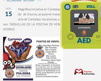 The Group of Civil Protection Volunteers of Cantalejo obtains a defibrillator