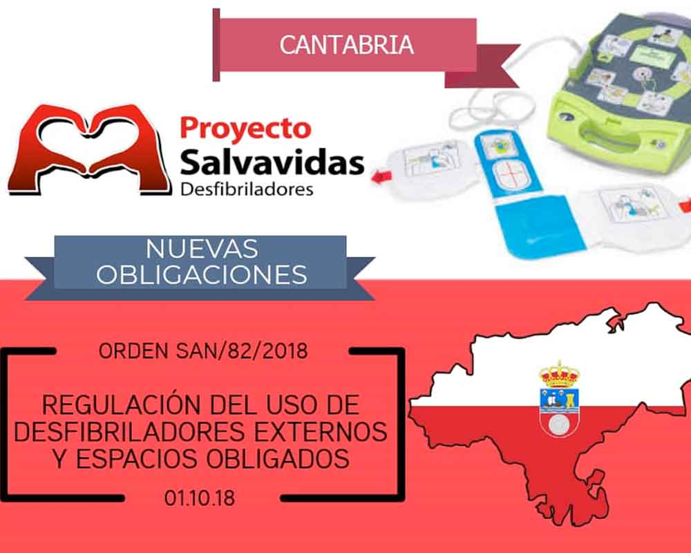 Defibrillators in Cantabria