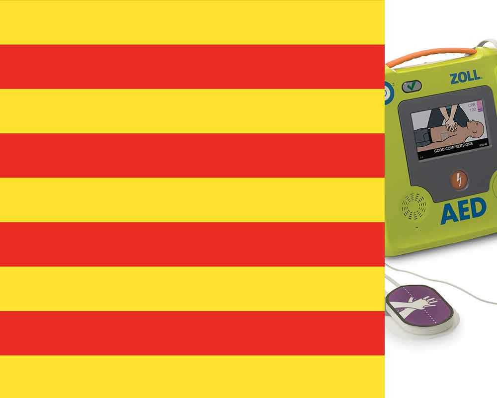 Defibrillator regulations Catalonia