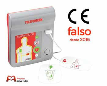 Telefunken HR1 FA1 and HeartReset defibrillators do not have CE marking from 2016