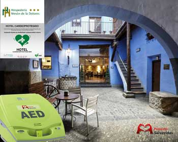 Hotel cardioprotected with defibrillators Calatayud