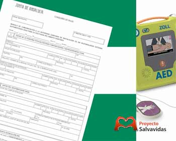 Registration of external defibrillators in Andalusia | Installation and use