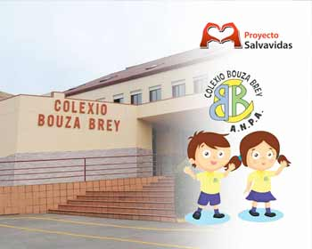 Initiative to install a defibrillator in the Colexio Bouza Brey with bracelets in solidarity